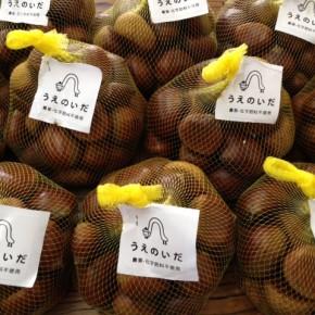 ご好評いただき、今回で三回目になりました首里 うえのいださんの自然栽培(大分産)の栗が再入荷しました。  まだまだ暑い沖縄ですが、秋の味覚をお楽しみ下さい。