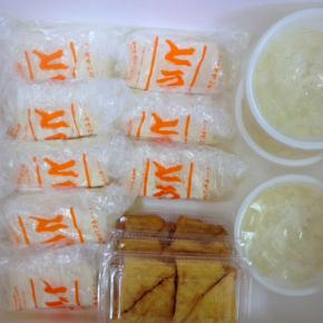 6/27(wed)本日の仕入れです。  浦添市 佐久川豆腐(九州産ふくゆたか一等大豆使用)の島豆腐・ゆし豆腐・厚揚げ豆腐が入荷しました。