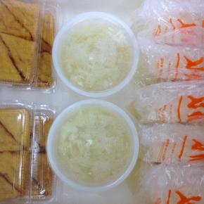 4/6(fri))本日の仕入れです。  浦添市 佐久川豆腐(九州産ふくゆたか一等大豆使用)の島豆腐・ゆし豆腐・厚揚げ豆腐が入荷しました。