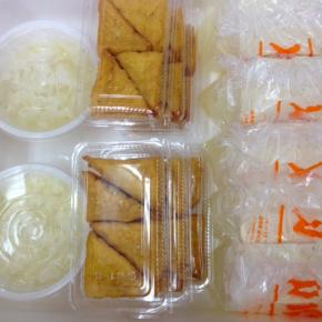 2/23(fri)本日の仕入れです。  浦添市 佐久川豆腐(九州産ふくゆたか一等大豆使用)の島豆腐・ゆし豆腐・厚揚げ豆腐が入荷しました。