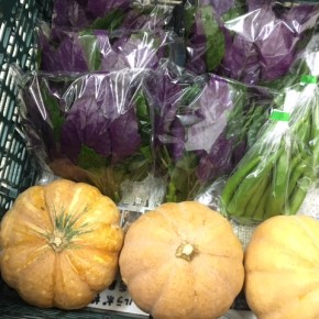 12/2(sat)本日の仕入れです。  八重瀬町 島袋悟さんの自然栽培の丸オクラ・島かぼちゃ、糸満市 金城聡さんの無農薬栽培のハンダマが入荷しました!