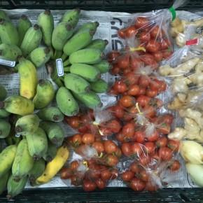 2/9(fri)本日の仕入れです。  うるま市 玉城勉さんの自然栽培のミニトマト・新生姜・新玉ねぎ・銀バナナが入荷しました!