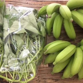 5/28(mon)本日の仕入れです。  うるま市 玉城勉さんの自然栽培のブラジル島バナナ・カンダバーが入荷しました!