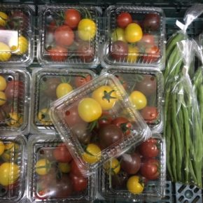 12/15(sat)くりきんファームさんの自然栽培のカラフルミニトマト・サヤインゲンが入荷しました!