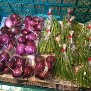 八重瀬町 島袋悟さんの自然栽培の丸オクラ、南風原町 金城クン知念クンの自然栽培の赤玉ねぎが入荷しました!