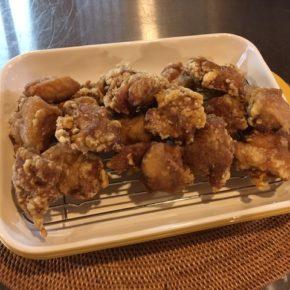 定番の秋川牧園 鶏もも肉の唐揚げもご用意できました。