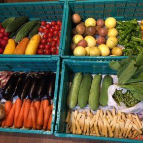 やんばるから森さんの無農薬栽培の野菜が入荷していまーす!  本日は小玉トマト・パクチー・ヘチマ・ししとう・人参・モーウイ・ジャガイモ・プラム・茗荷・ゴーヤー・茄子・枝豆・マッシュルーム・からし菜・ヤングコーン・パッションフルーツ・ミニパプリカ・ピーマンが入荷です。