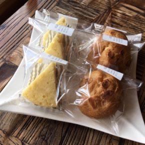 浦添市港川のルポムさんのシュークリーム・パインロール・チーズケーキ・ガトーショコラ・マカロン・クッキーが入荷(毎週月曜・木曜日)しました!