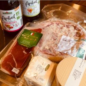 オーガニックのスパークリングジュース・石釜ピザマルゲリータ・生ハム・カマンベールチーズ・フライドチキン(チューリップ)が入荷しています。