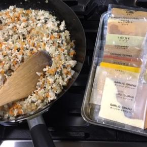 1/12(tue)のデリ!県産20種類のスパイスで作ったキーマカレーオススメです。定番の鶏もも肉の唐揚げ・ポテトサラダなどから順次ご用意していきます。