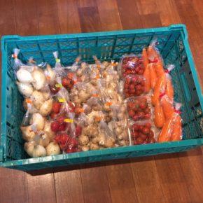 北中城村 ソルファコミュニティさんの自然栽培のミニトマト・人参、うるま市 玉城勉さんの自然栽培のミニトマト・新玉ねぎ・生姜が入荷しました。