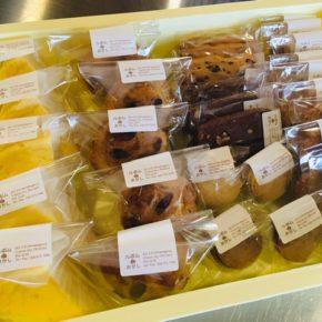 浦添市港川 おかしのルポムさんのスイーツが入荷しました! 甘さ控えめのシュークリームがオススメです。