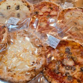 浦添市安波茶 ヤンバールさんの冷凍ピザが入荷しました!  フライパン・トースター・ホットプレートで本格ピザをどうぞ。 マルゲリータ・ナポレターナ・ビアンケッティ・トラボッカーレ・クワトロフォルマッジの5種類です。